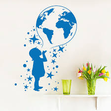 World Map Wall Decal Wall Maps For Kids Promotion Shop For Promotional Wall Maps For