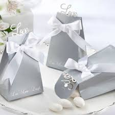 silver party favors silver favor boxes