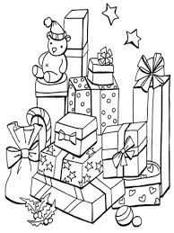 coloring pictures of christmas presents christmas gift drawing at getdrawings com free for personal use