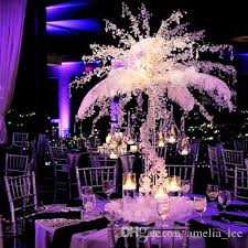 wholesale royal blue ostrich feathers for wedding decoration table