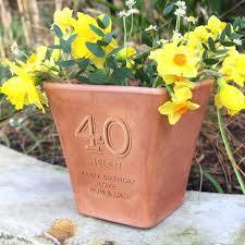 personalized flower pot garden plant pots and herb planters notonthehighstreet