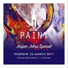 Jasper Johns Map Sip And Paint Painting Party Jasper Johns Special U2014 Nadine Walker