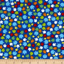 dandy dinos paw prints blue discount designer fabric fabric com zoom dandy dinos paw prints blue