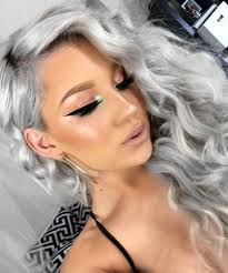 make up tips for salt and pepper hair these are the silver hair looks of your dreams grey hair dye