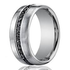 black bands rings images Designer 14k white gold men 39 s eternity band black diamond 7 5mm jpg