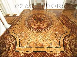 wood floor medallions inlays wood borders and parquet