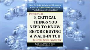 Walk In Baths And Showers Prices Before You Buy A Walk In Tub In Canada 8 Ciritcal Factors Youtube