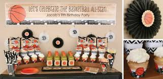 basketball party table decorations all star sports party ideas big dot of happiness