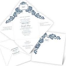 Seal And Send Invitations Folded Wedding Invitations Z Fold Wedding Invitations Ann U0027s