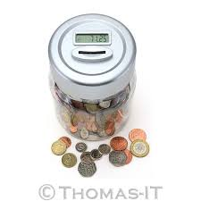 digital lcd display coin pounds counting counter money savings uk