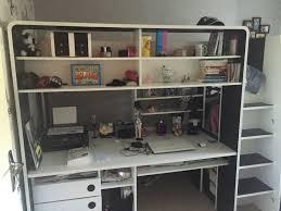 lits mezzanine avec bureau lit mezzanine avec bureau et penderie intégrés occasion en