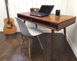 Mid Century Modern Desk Boxer Mid Century Modern Desk With Storage Featuring Sapele