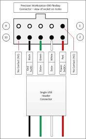 precision 690 flexbay usb header pinout general hardware