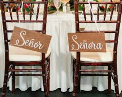 Wedding Chair Signs Chair Back Signs Bride And Groom Calligraphy Wedding Decor