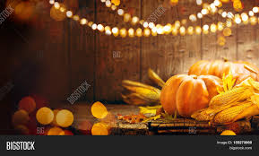 pumpkin squash happy thanksgiving image photo bigstock