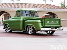 1956 chevy stepside pickup truck exceptional green paint job