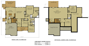 cabin plans with basement craftsman style lake house plan with walkout basement lake house