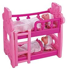 Bunk Bed For Dolls Vinsani Childrens Pretend Play Pink Bunk Bed Dolls Set