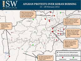 bagram air base map the afghan response to the 2012 koran burning incident institute