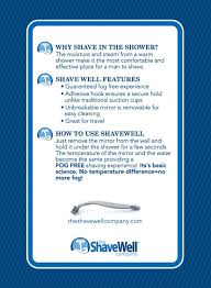 Why Do Bathroom Mirrors Fog Up by Deluxe Shave Well Fog Free Shower Mirror 33 Larger Than The