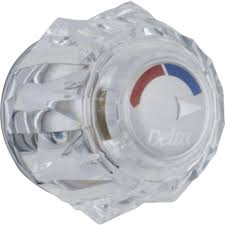 delta clear knob handle for 13 14 series shower faucets h71 the
