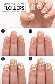 negative space flower nail art tutorial flower nail art flower