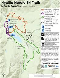 Map Montana by Montana Ski Resorts Bozeman Cross Country Skiing Bridger Bowl