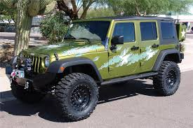 2007 green jeep wrangler 2007 jeep wrangler custom 4 door war wagon 60603