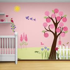 Kids Bedroom Wall Colors Splendid Garden Wall Mural Stencil Kit For Painting Contemporary