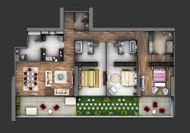 Apartments With 3 Bedrooms | 50 three 3 bedroom apartment house plans architecture design
