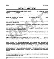 create a hold harmless indemnity agreement legal templates