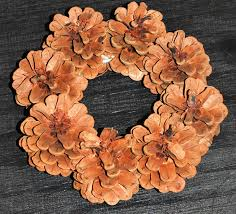 mini pine cone wreaths 6 inch lodgepole pinecone wreath