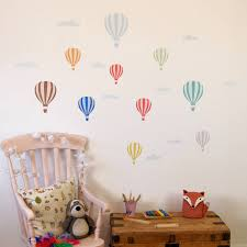 nursery wall decals jungle animals color the walls of your house wall decals hot air balloons