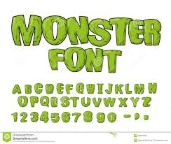 scary font stock vector image 58087132