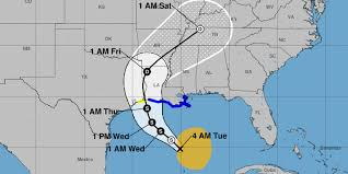 Louisiana Weather Map by Tropical Storm Cindy Threatens Gulf Coast