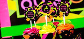 neon party ideas kara s party ideas neon 80 s skate themed birthday party