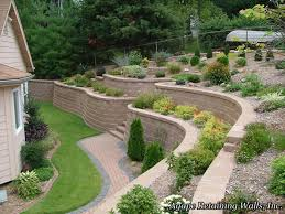 Backyard Landscaping Ideas by Triyae Com U003d Terraced Backyard Design Ideas Various Design