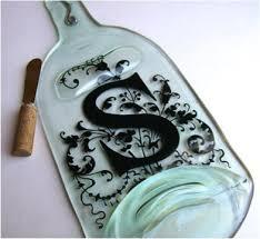 flattened wine bottle platter how to flatten wine bottles in oven this personalized wine bottle