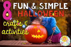 fun and simple halloween crafts and activities a burst of first