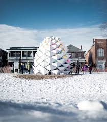 snowcone winter station reimagines lifeguard post on toronto