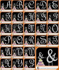 letter wedding cake toppers monogram wedding cake topper rhinestone diamonte cake toppers