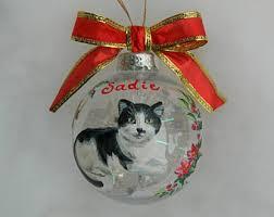 handpainted cat ornament custom cat portrait pet keepsake