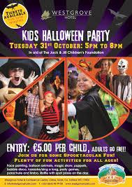 kids halloween party at westgrove hotel