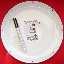 signing plate personalised signature plates painted signing platters