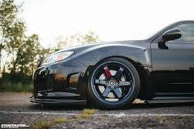 black subaru rims flawless execution stancenation form u003e function