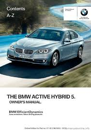 bmw active hybrid 5 2016 f10h owner u0027s manual