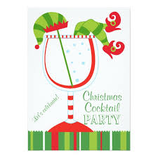 christmas cocktail party christmas elf cocktail party card zazzle com