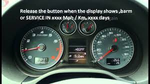 how to reset service light indicator audi a3 2003 2009 youtube