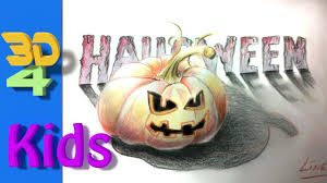 easy 3d drawing draw pumpkin halloween for kids and beginners 18
