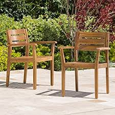 Patio Table Wood Amazon Com Walker Edison Furniture Company Solid Acacia Wood